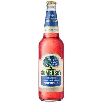 Somersby Cider with Bilberry Juice 4,7% 0,5l - buy, prices for CityMarket - photo 1