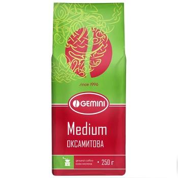 Кава Gemini Medium натуральна смажена мелена 250г - купити, ціни на CітіМаркет - фото 1