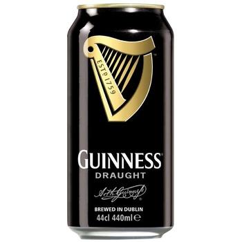 Пиво Guinness Draught темное 4,2% 0,44л