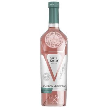 Вино Villa Krim Шато Ле Гранд розовое полусладкое 9-13% 0,75л - купить, цены на ЕКО Маркет - фото 1