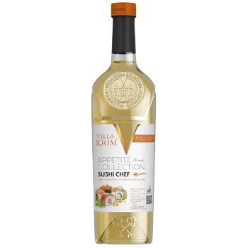 Вино Villa Krim Суші Шеф біле напівсухе 9-14% 0,75л - купити, ціни на Бджілка - фото 1