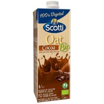 Напій Riso Scotti вівсяний з какао та кальцієм органічний 1л