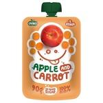 Пюре Ovko органическое яблоко морковь 90г