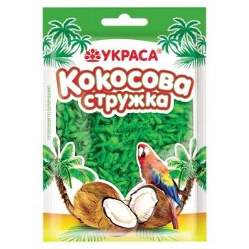 Кокосова стружка Украса зелена 25г