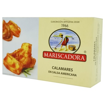 Mariscadora In American Sauce Squid Pirces Can 120ml
