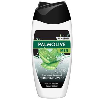 Гель для душу Palmolive Men Очищення та догляд з алое вера та вітаміном Е 250мл - купити, ціни на Ашан - фото 1