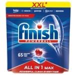 Таблетки для посудомийних машин Finish All in One Max 65шт