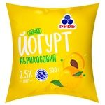 Йогурт Рудь Забава абрикос 2,5% 500г