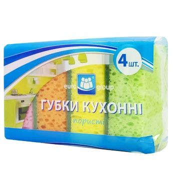 Eurogroup Kitchen Porous Sponge 4pc