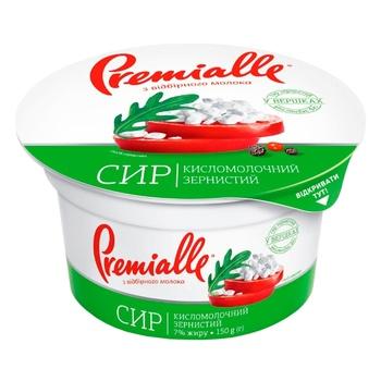 Сир кисломолочний Premialle зернистий 7% 150г - купити, ціни на Ашан - фото 3
