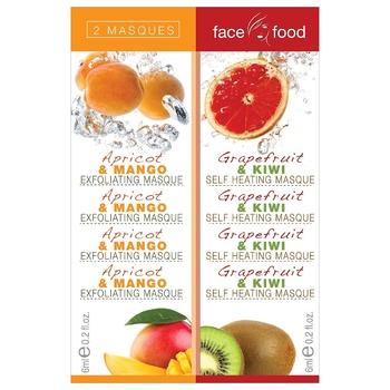 Маска 7th Heaven Face Food Абрикос-манго и Грейпфрут-киви 2шт 12мл