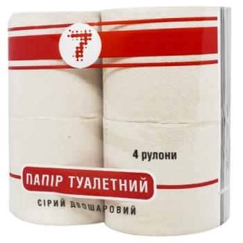 Туалетная бумага Семерка серая 4шт