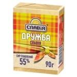 Сыр Славия Дружба плавленый ломтевой 55% 90г