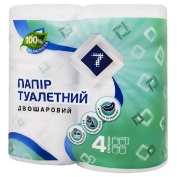 Туалетная бумага Семерка белая 4шт