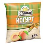 Йогурт Славия с наполнителем персик 1,5% 400г