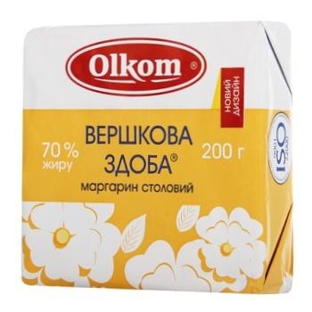 Маргарин Olkom Сливочная сдоба 70% 200г - купить, цены на СитиМаркет - фото 1