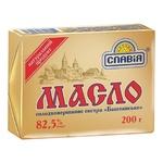 Масло Славія Баштанське солодковершкове екстра 82,5% 200г