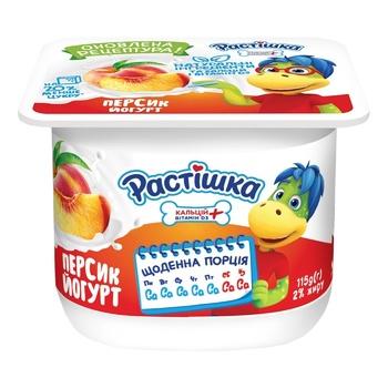 Rastishka Peach Yogurt 2% 115g - buy, prices for CityMarket - photo 1