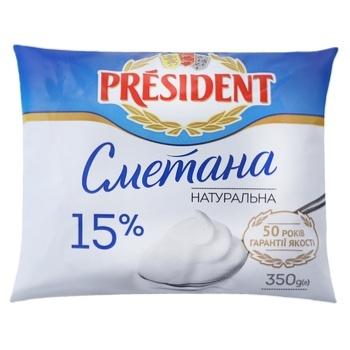 President Sour Сream 15% 350g