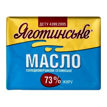Yahotynske Selianske Sweet Cream Butter 73% 200g - buy, prices for Auchan - photo 1