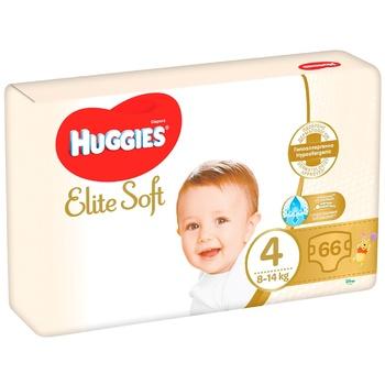 Подгузники Huggies Elite Soft 4 Mega 8-14кг 66шт