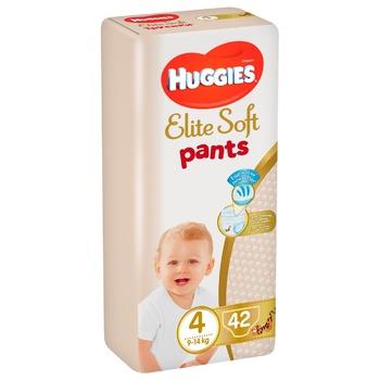 Подгузники-трусики Huggies Elite Soft р.4 9-14кг 42шт