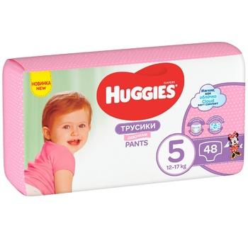 Трусики-подгузники Huggies Pants 5 Mega 13-17 кг для девочек 48шт