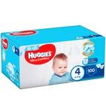 Huggies Box Ultra Comfort Diapers 4 for Boys 8-14kg 100pcs