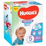Підгузки-трусики Huggies для хлопчиків 5 12-17кг 68шт/уп