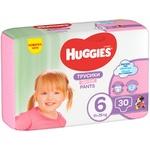 Трусики-підгузки Huggies Pants 6 Jumbo 15-25кг для дівчаток 30шт