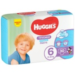 Трусики-подгузники Huggies Pants 6 Jumbo 15-25кг для мальчиков 30шт