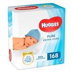 Huggies Pure Extra Care Baby Wet Wipes 3х56pcs