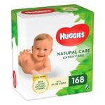 Салфетки влажные Huggies Natural Care Extra Care детские с алоэ вера 3х56шт
