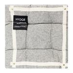 Hygge Black Cotton Chair Pad 40x40cm