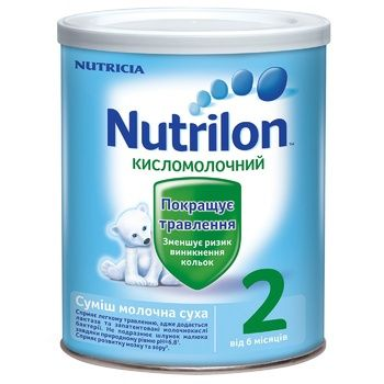 Суміш молочна Нутриція Нутрилон 2 Кисломолочний суха для дітей з 6 місяців залізна банка 400г