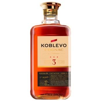 Koblevo 3 stars brandy 40% 0,5l - buy, prices for CityMarket - photo 1