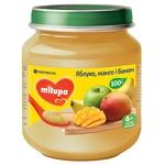 Пюре фруктовое Milupa Яблоко, манго и банан для детей от 6 месяцев 125г