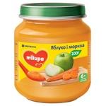 Пюре фруктовое Milupa Яблоко и морковь для детей от 6 месяцев 125г