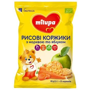 Рисовые коржики Milupa Морковь яблоко 40г