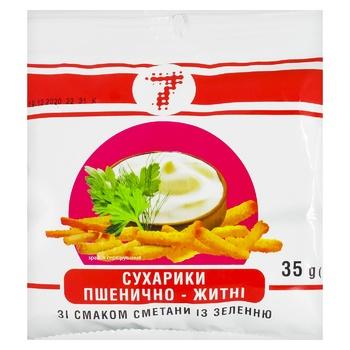 Сухарики Семерка пшеничные со вкусом сметаны с зеленью 35г