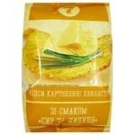 Чипсы Семерка волнистые со вкусом сыра и лука 110г