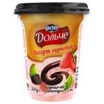 Десерт творожный Dolce клубника-киви и шоколад 3,4% 350г