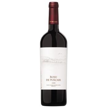 Вино Rosu de Purcari червоне сухе 12,5% 0,75л - купити, ціни на CітіМаркет - фото 1