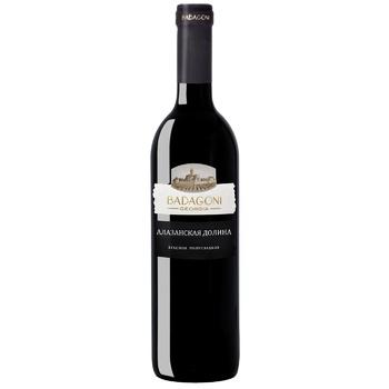 Вино Badagoni Алазанская долина красное полусладкое 10-12% 0,75л