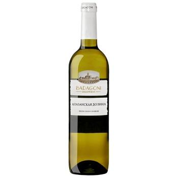 Badagoni Alazan Valley Wine white semi-sweet 10% 0,75l - buy, prices for CityMarket - photo 1
