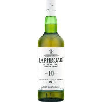 Laphroaig islay single malt scotch whiskey 10 yrs 40% 0,7l - buy, prices for CityMarket - photo 1