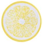 Підставка під гаряче 109827 Літо Лимон 38см жовтий кругла