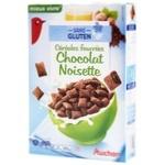 Пластівці Ашан шоколадні з горіхами без глютену 375г