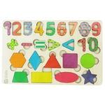Пазл Цифри-фігурки кольорові дерев'яні
