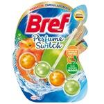Туалетные блоки для унитаза Bref Изменение аромата Персик-Яблоко 50г